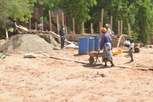 The Water Project: Katovya Community -  Late Construction Stage At The Dam Site