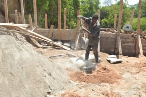 The Water Project: Katovya Community -  Mixing Cement