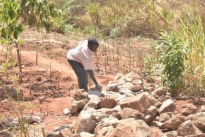 The Water Project: Kasekini Community A -  Rocks For Construction