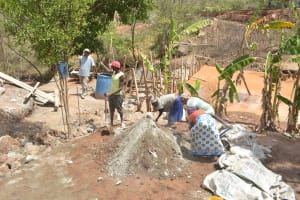 The Water Project: Kasekini Community -  Dam Construction