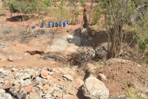 The Water Project: Kasekini Community -  Dam Site Work Begins