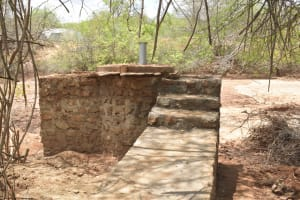 The Water Project: Katovya Community -  Stairs To Well Dry