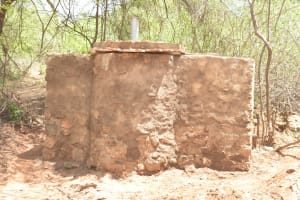 The Water Project: Katovya Community -  Well Base Cement Dries