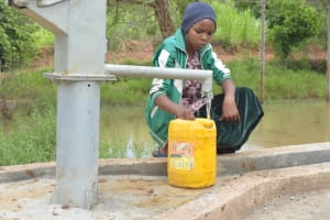 The Water Project: Kasekini Community A -  Fetching Water At The Well