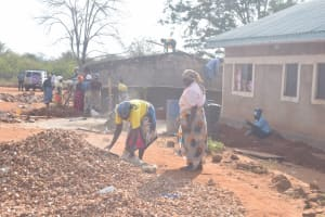 The Water Project: Murwana Primary School -  Collecting Stone For Construction