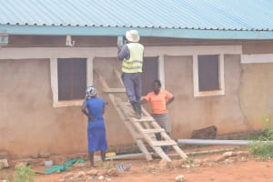 The Water Project: Murwana Primary School -  Installing The Gutters