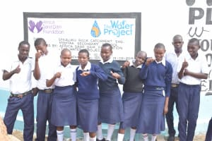 The Water Project: Nyanyaa Secondary School -  Students At The Tank