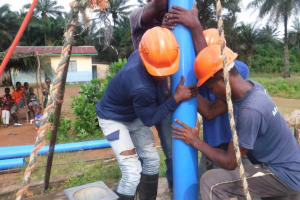 The Water Project: Lokomasama, Gbonkogbonko, Kankalay Primary School -  Drilling