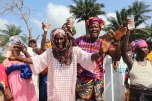 The Water Project: Lokomasama, Gbonkogbonko, Kankalay Primary School -  Old Women Celebrate At The Well