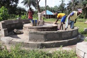 The Water Project: Lokomasama, Gbonkogbonko, Kankalay Primary School -  Pad Construction