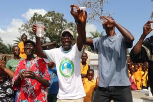 The Water Project: Lokomasama, Gbonkogbonko, Kankalay Primary School -  School Head Teacher Town Chief And Headman Celebrate