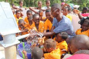 The Water Project: Lokomasama, Gbonkogbonko, Kankalay Primary School -  Students Play At The Well