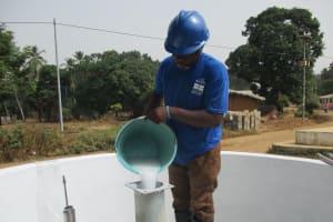 The Water Project: Lungi, Mahera, Mahera Health Clinic -  Chlorination