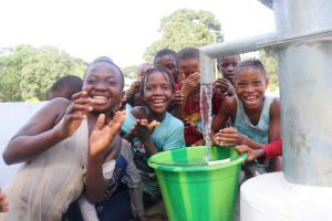 The Water Project: Lungi, Mahera, Mahera Health Clinic -  Children Celebrating Safe Drinking Water