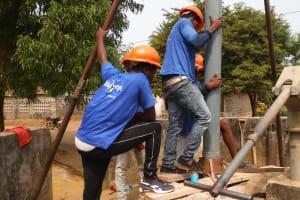 The Water Project: Lungi, Mahera, Mahera Health Clinic -  Drilling