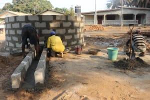 The Water Project: Lungi, Mahera, Mahera Health Clinic -  Pad Construction