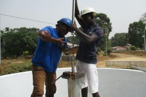 The Water Project: Lungi, Mahera, Mahera Health Clinic -  Pump Installation