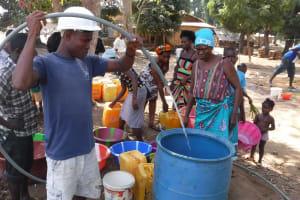 The Water Project: Lungi, Mahera, Mahera Health Clinic -  Yield Test