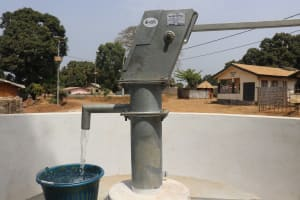 The Water Project: Lungi, Mahera, Mahera Health Clinic -  Clean Water Flowing