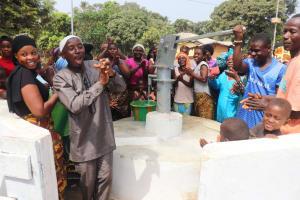 The Water Project: Lungi, Mahera, Mahera Health Clinic -  Community Members Celebrating The Well