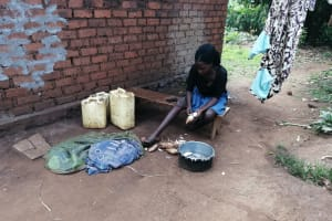 The Water Project: Kinuma Kyarugude Community -  Peeling Potatoes