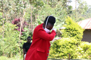 The Water Project: Asimuli Community, John Omusembi Spring -  Remember To Cough Or Sneeze Into Your Elbow