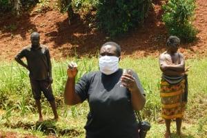 The Water Project: Shikhombero Community, Atondola Spring -  Team Leader Emmah Emphasizes Keeping Safe