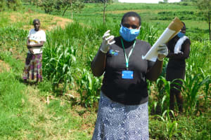 The Water Project: Sichinji Community, Kubai Spring -  Team Leader Emmah Heads Training