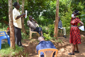 The Water Project: Musango Community, M'muse Spring -  Community Member Reacts To The Training