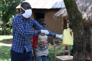 The Water Project: Sambaka Community, Sambaka Spring -  Everyone Should Have A Leaky Tin Like This In Their Homestead