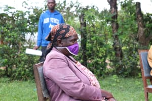 The Water Project: Malava Community, Ndevera Spring -  Some Community Members Came Prepared In Their Own Masks