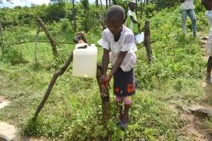 The Water Project: Mukoko Community, Mshimuli Spring -  Handwashing At The New Station