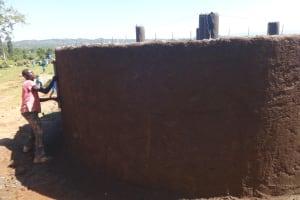 The Water Project: St. Michael Mukongolo Primary School -  Plasterwork