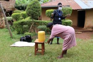 The Water Project: Lugango Community, Lugango Spring -  Handwashing Demonstration