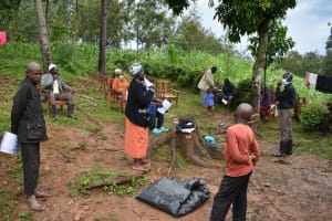 The Water Project: Maganyi Community, Bebei Spring -  Sir Erick Leading The Session