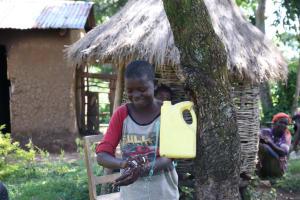 The Water Project: Sambaka Community, Sambaka Spring -  Handwashing Volunteer