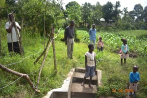 The Water Project: Bukhanga Community, Indangasi Spring -  Social Distancing