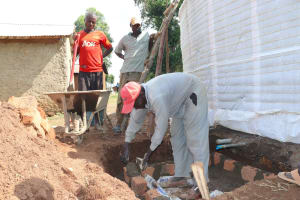 The Water Project: St. Gerald Mayuge Secondary School -  Construction Tap And Drainage Access Area