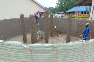 The Water Project: Jinjini Friends Primary School -  Interior Plaster