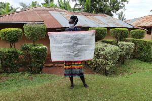 The Water Project: Lugango Community, Lugango Spring -  Use Of Caution Chart At The Training