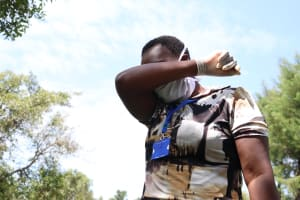 The Water Project: Sambaka Community, Sambaka Spring -  Remember To Cough Into Your Elbow Like This
