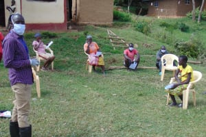 The Water Project: Ulagai Community, Rose Obare Spring -  Observing Social Distancing