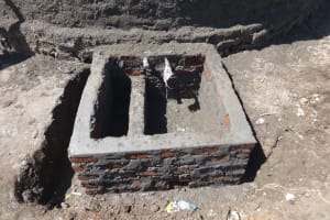 The Water Project: St. Michael Mukongolo Primary School -  Water Drawing Point Construction