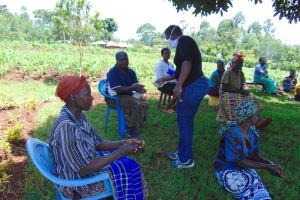 The Water Project: Visiru Community, Kitinga Spring -  Hand Sanitizing At The Training