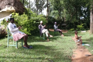 The Water Project: Lutali Community, Lukoye Spring -  The Participants Had To Participate In The Handwashing Exercise