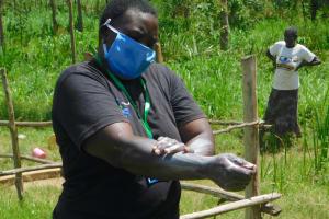 The Water Project: Sichinji Community, Kubai Spring -  Emmah Demonstrates Handwashing