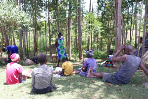 The Water Project: Shirugu Community, Shapaya Mavonga Spring -  Trainer Shigali On The Frontline In The Covid Fight
