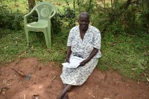 The Water Project: Musango Community, Emufutu Spring -  An Elderly Citizen Attending The Training