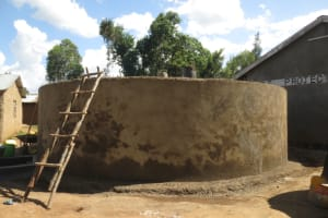 The Water Project: St. Gerald Mayuge Secondary School -  Outer Cement Curing