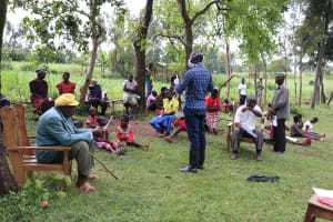 The Water Project: Sambaka Community, Sambaka Spring -  People Turned Up In Numbers